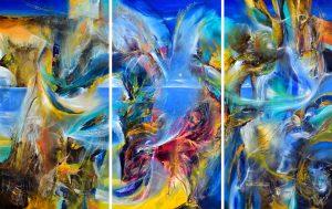 """Eternal Transmutation, 90"""" x 181"""" x 2"""", 2020"""