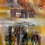 Bruma de otoño - Óleo sobre lienzo / 80x60x5 cm / 2019
