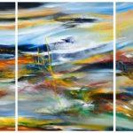 Colores de la floresta -Óleo sobre lienzo / 80x180x5cm / 2018
