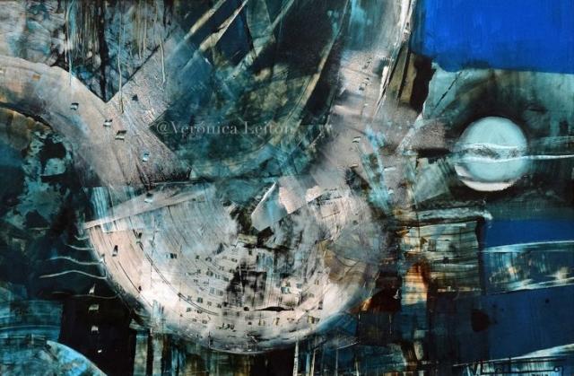 En el cauce repleto del cielo - Óleo sobre lienzo / 2012