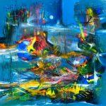 Festín de colores - Óleo sobre lienzo / 60x60x5cm / 2018