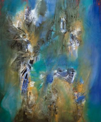 La humedad del universo - Óleo sobre lienzo / 2014