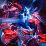 Navegando un cielo de cristal - Óleo sobre lienzo / 60x60x5cm / 2019