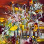 Pequeño jardín de sueños -Óleo sobre lienzo / 60x60x5cm / 2019