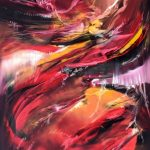 Susurro del fuego -Óleo sobre lienzo / 80x60x5cm / 2019